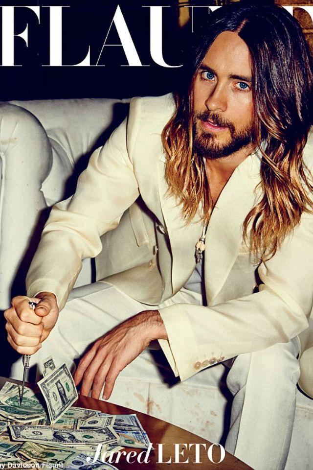 Ombre long hair on men