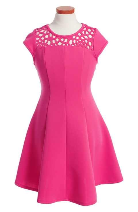 Ten Sixty Sherman Cap Sleeve Dress (Big Girls)