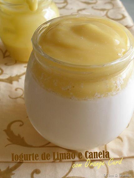 Iogurte de Limão e Canela com Orange Curd