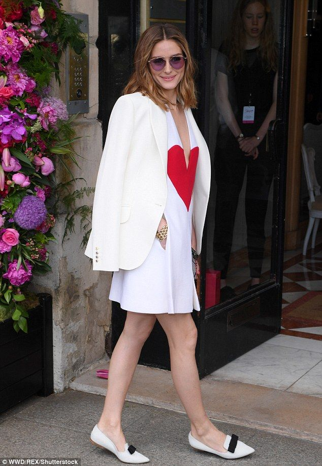 Olivia Palermo attends Schiaparelli Haute Couture show | Daily Mail Online