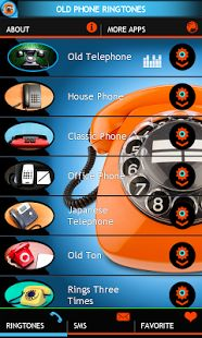 If you are nostalgic and if you like the old phone ringtones sounds, we prepare especially for you new old phone ringtones app. Old phone app contains high quality sounds of old phone rings. Download for free this old phone app here https://play.google.com/store/apps/details?id=com.bestenergyringtones.oldphoneringtones  and remind the retro sounds of the past.