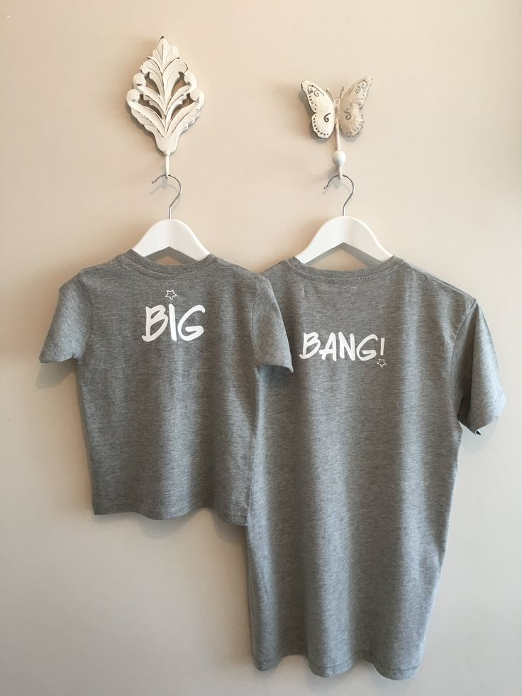 #Camiseta #minime by #loveadrienne. Estampado de la parte trasera Big/Bang. Para hombre y niño. Tejido algodón 100%