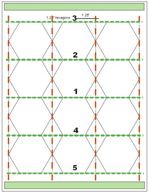 Meer dan 1000 afbeeldingen over hexagon quilting op for Quilting hexagon templates free