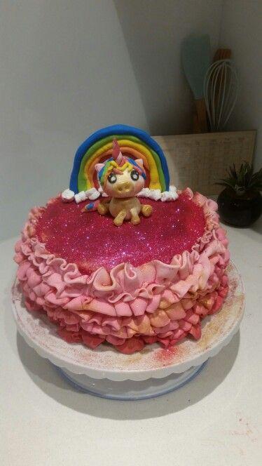 Rainbow Unicorn Cake