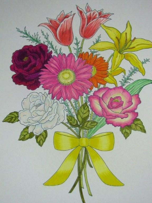 Jules Cote' (18+ division) from Floral Bouquets Coloring Book