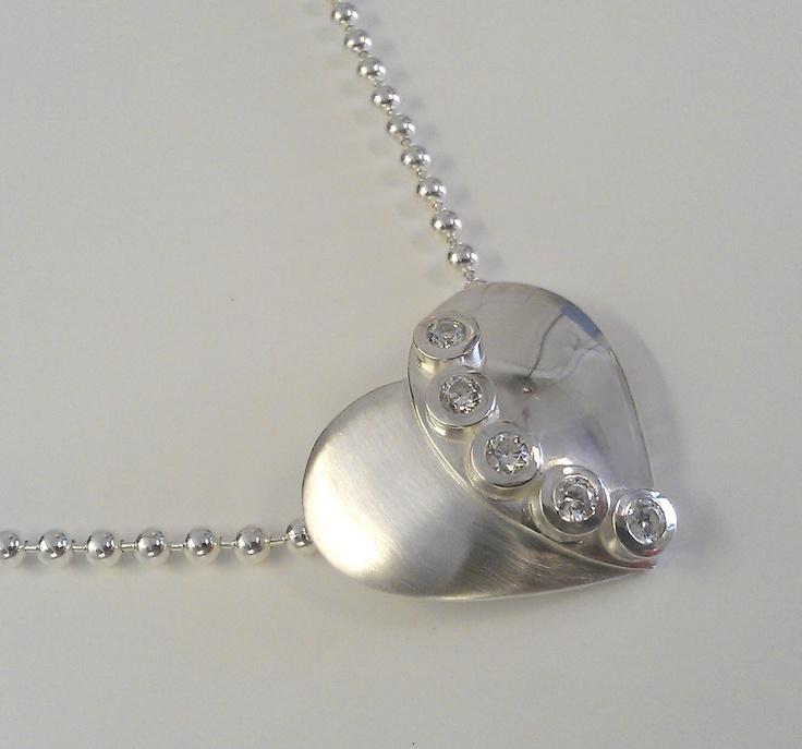 Overlappning silver heart