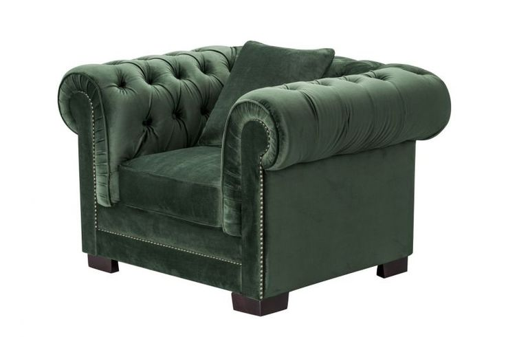 Fotel Chesterfield Classic Velvet Deep Forest  #dekoriapl #sofa #chesterfield #furniture #livingroom #aksamit #style #beautiful #design #
