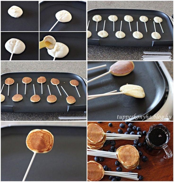 Palacsinta nyalókaHozzávalók:  3 egész tojás 4 púpos ek cukor 12 púpos ek liszt 1 csvaníliás cukor 1 tk só 0,5 dl olaj 480 ml tej hurkapálcika  Elkészítés: Összekeverjük a palacsinta alapot, majd a kép szerint tovább folytatjuk. :)Kövess facebookos oldalamon és…