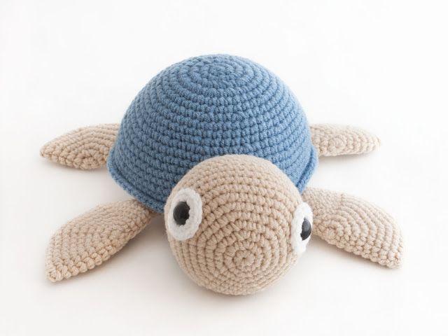 Häkelblog Verzeichnis : Wasserschildkröte - Häkelanleitung