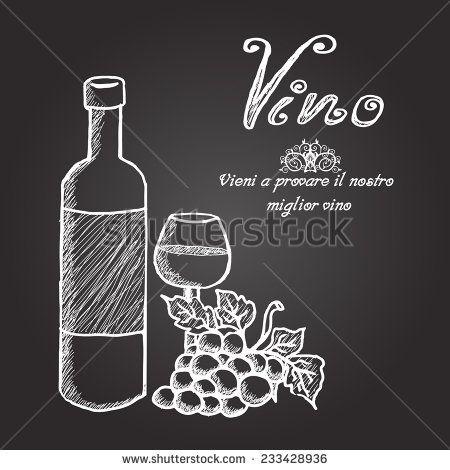 94 best images about chalk art on pinterest wine for Wine chalkboard art