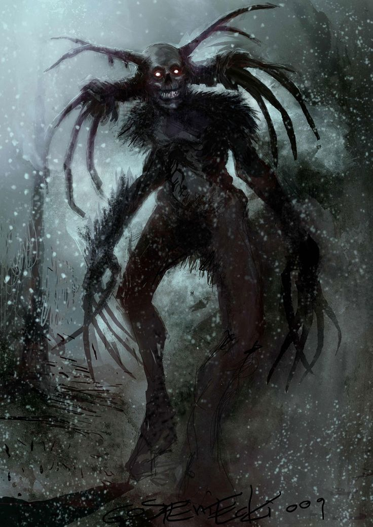 scary paintings | Creepy Concept Art from Shadows of the Damned