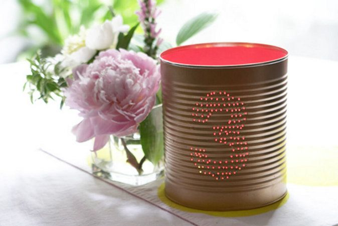 Wedding Table number for DIYIdeas, Wedding Tables Numbers, Candles Holders, Tablenumbers, Tin Cans, Layered Cake, Tins Cans, Table Numbers, Diy Projects