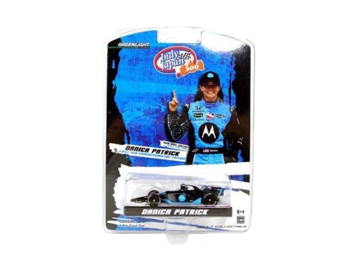 Danica Patrick 1st First Win 2008 Commemorative Edition Indy Car 1/64 Diecast Model Car by Greenlight - Limited Edition. Brand New Box. Has Rubber Tires. Metal Body and Chassis. Detailed Interior, Exterior. Officially Licensed Product. Dimensions Approximately L-2 1/2 Inches Long.-Weight: 1. Height: 5. Width: 9. Box Weight: 1. Box Width: 9. Box Height: 5. Box Depth: 5