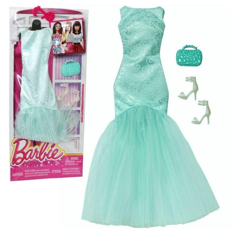 Barbie - Tendenza Moda per Vestiti per le Bambole Barbie - Abito da Sera Verde Menta: Amazon.it: Giochi e giocattoli