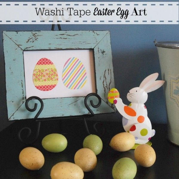 Make adorable washi tape Easter egg art in just minutes!