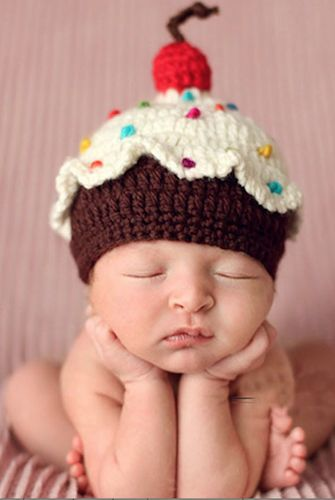 CCN27 Cupcake Baby Knit Hat Last Call - Backdrop Outlet