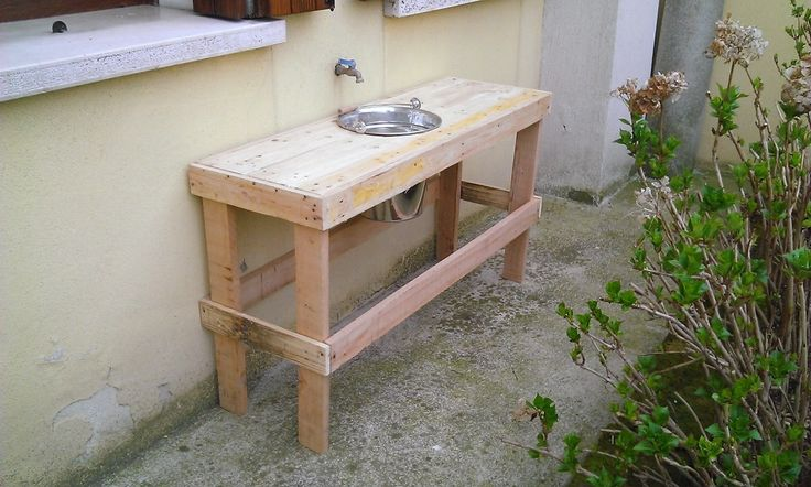 Lavello da esterno (Pallets Ideas)