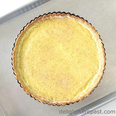 Eggnog Tart - Classic Custard Tart / www.delightfulrepast.com