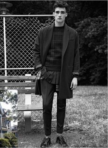Menswear, fashion, modern suit