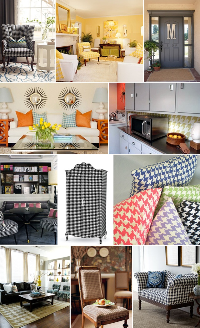 35 best houndstooth decor images on pinterest for Loft style basement