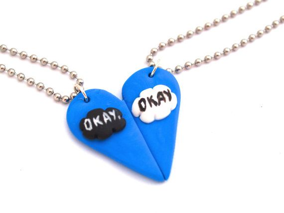 The Fault in Our Stars Inspired Best Friend Necklace, BFF Friendship Necklace #TFIOS