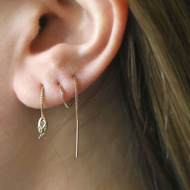 Yet another creative way to wear our diamond-studded Snake Threader.
