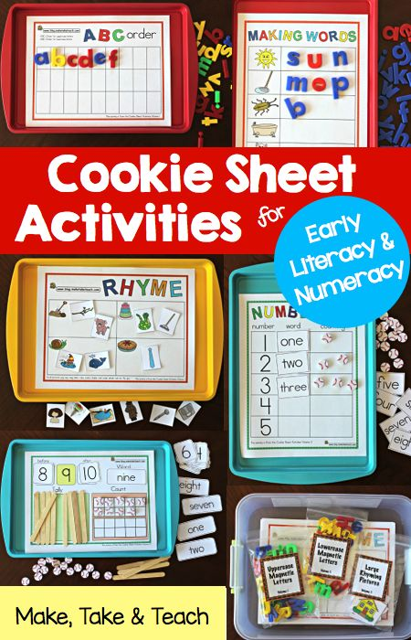 Cookie Sheet Activities Pre K- K Bundle- Early Literacy and Numeracy Activities