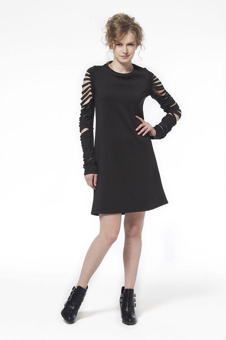 Siyah Kol Detaylı Elbise Kol Detaylı Siyah Elbise Elbise En Trend Elbiseler 64,90 TL