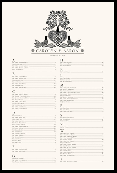 47 best Wedding Seating Charts images on Pinterest Wedding - wedding charts