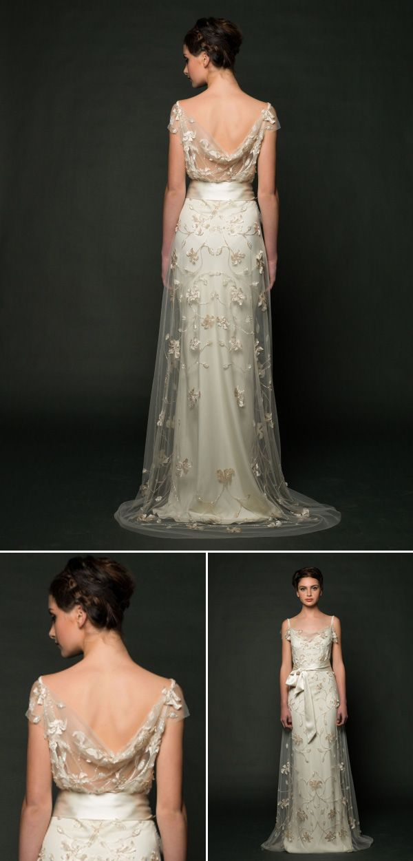 Sarah Janks wedding dress with beautiful open back detail from fall 2014 bridal market | via junebugweddings.com