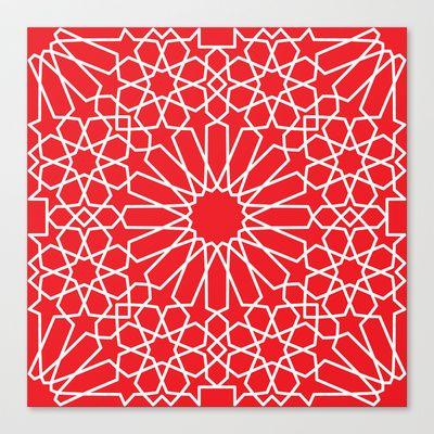 Moroccan Pattern 3 Canvas Print by Abdelati Dinar - $85.00