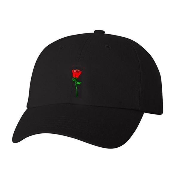 100% BIO WASHED CHINO TWILL ADJUSTABLE HAT. ROSE EMBROIDERED ON THE FRONT & TROYE SIVANLOGO EMBROIDERED ON THE BACK. ONE SIZE FITS MOST.