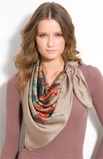 Multi-color scarf.