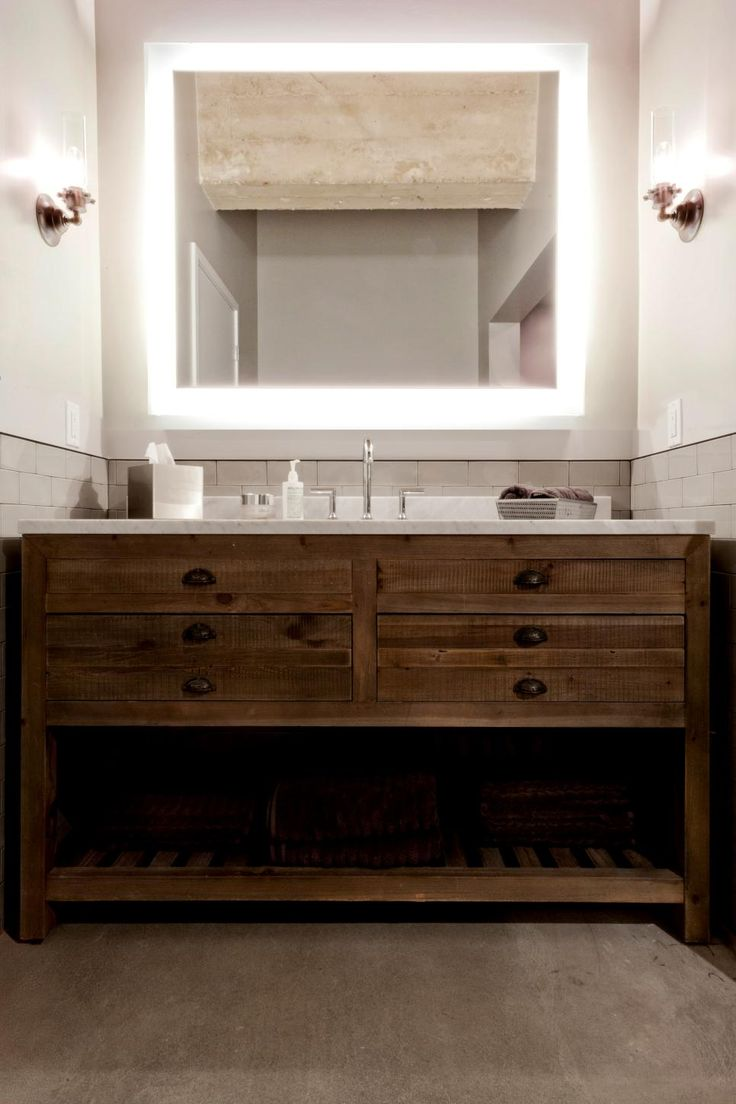 The Single Vanity In This Bathroom Is Actually An Antique