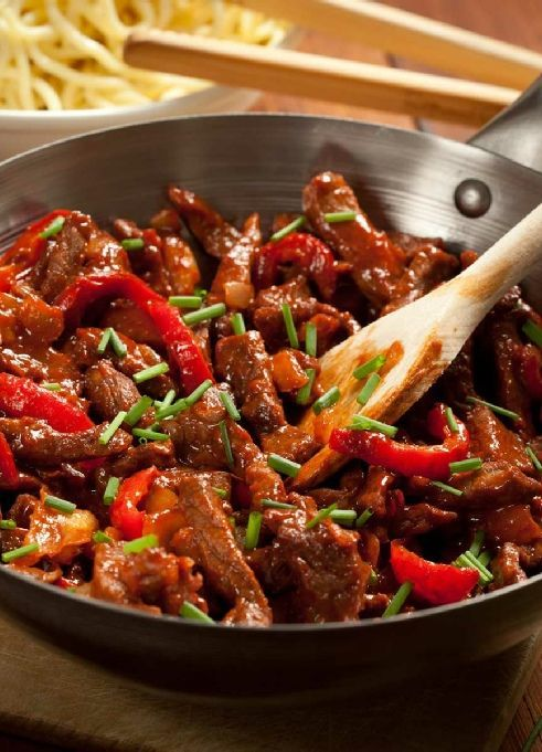 Low FODMAP & Gluten free Recipe -  Sticky stir-fried beef