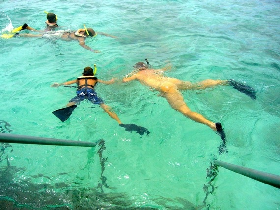 Snorkeling at De Palm Island.
