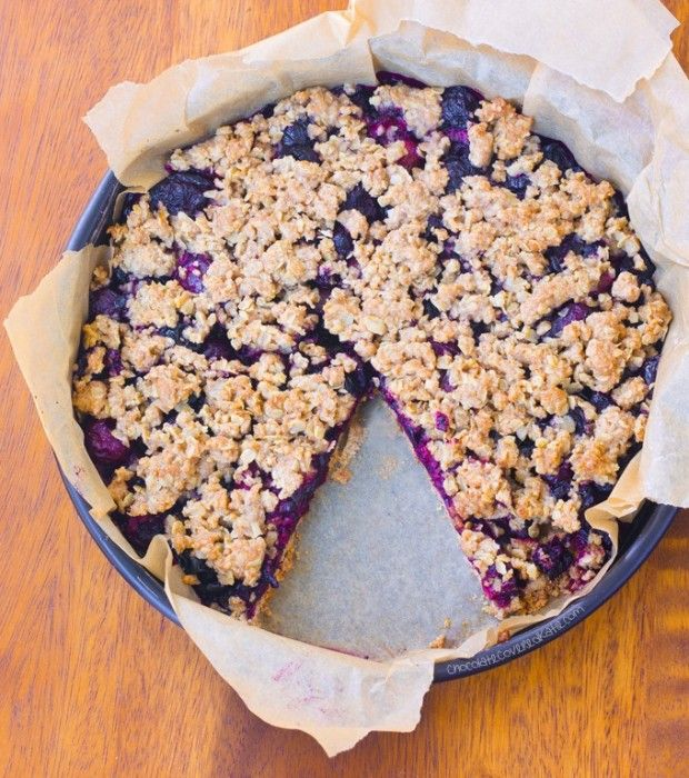Oatmeal Cherry Crumble Pie -- Clean Eating Recipe