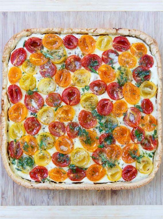 tomaten tarte mit ricotta pizza quiche und andere pinterest quiches vegan pie and food. Black Bedroom Furniture Sets. Home Design Ideas