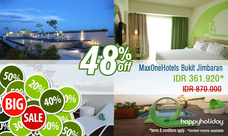 Promo time ! For MaxOne Hotels Bukit Jimbaran disc up to 48% until 30 Oct 2014.  Book Now >> http://www.happyholiday.travel/hotel/view/maxone-hotels-bukit-jimbaran-321724?utm_source=www.happyholiday.travel&utm_medium=Pinterest&utm_term=Hotel%20Promo&utm_content=MaxOne%20Hotels%20Bukit%20Jimbaran&utm_campaign=Special%20promo%20october%20month%20for%20MaxOne%20Hotels%20Bukit%20Jimbaran
