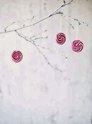 { peppermint ornaments }