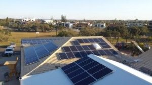 200 solar panel legacy for Kawana Waters SLSC for hosting a one day event which will save the club close to $500,000