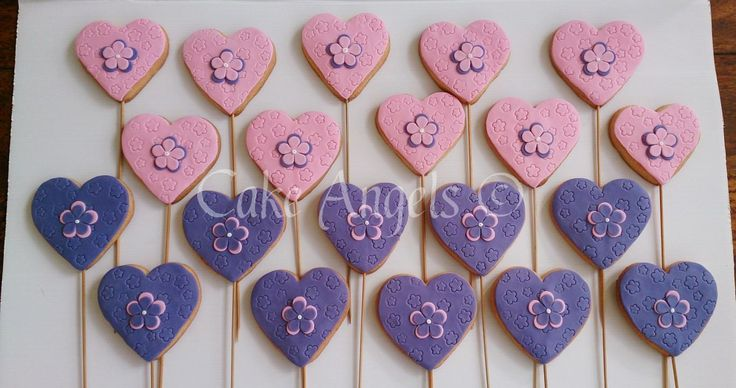 Pink and Purple Heart Cookies