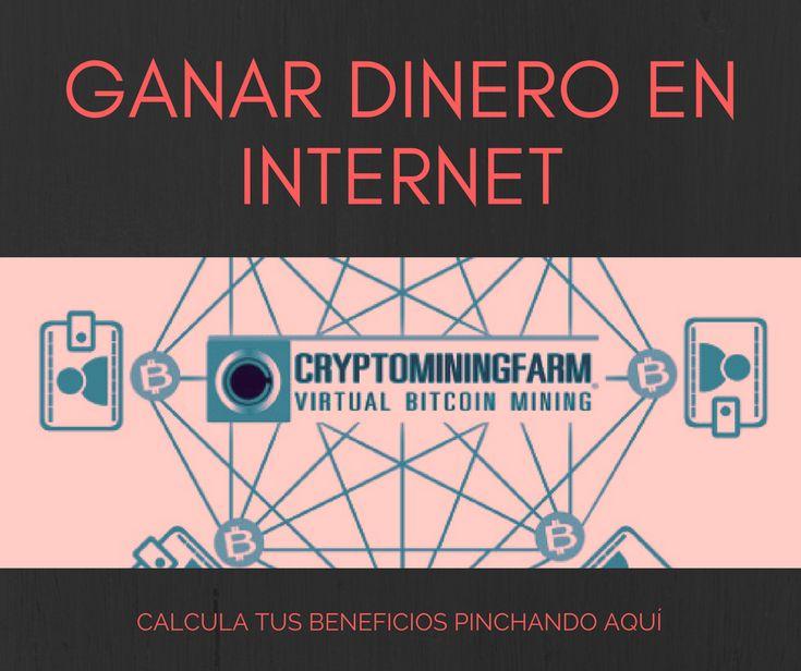 ¿Conoces la minería virtual de cryptomonedas en la nube? Es una manera muy fácil de ver crecer tu dinero. Entra en este enlace para más información y calcular tus beneficios:    https://www.cryptomining.farm/signup/?referrer=5A6D39235C6F0  Ganar dinero en internet - bitcoin - ethereum - mineria - criptodivisas -