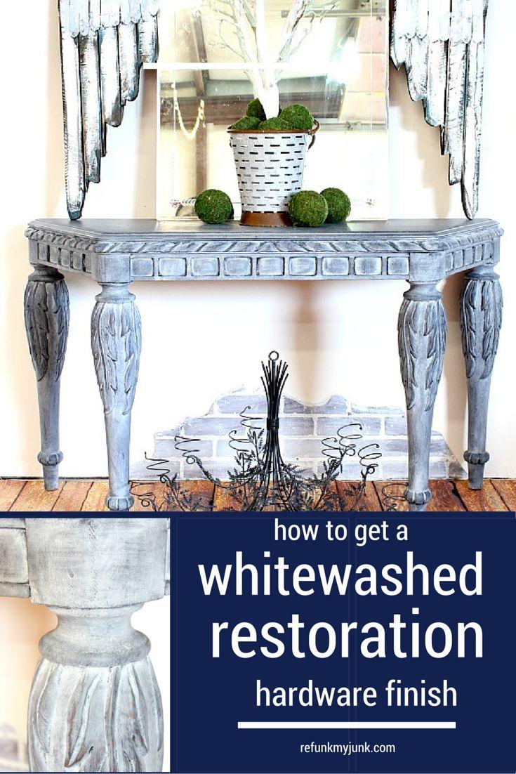 Get a Restoration Hardware Look with Whitewash Furniture - Refunk My JunkRefunk My Junk