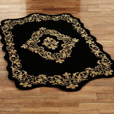 Imperial Scroll Sculpted Wool Area Rugs