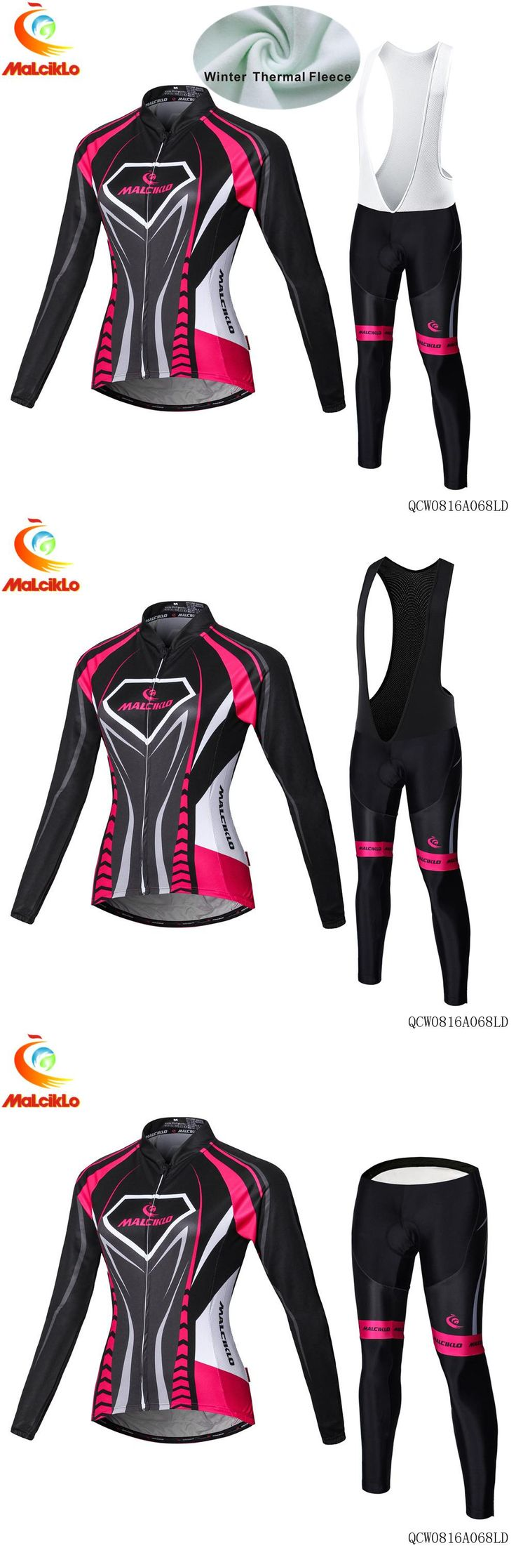 [Visit to Buy] New Cycling Jersey Winter Fleece Women's Long Sleeve Bicycle Cycling Clothing Outdoor Ropa Ciclismo cycling set #Advertisement