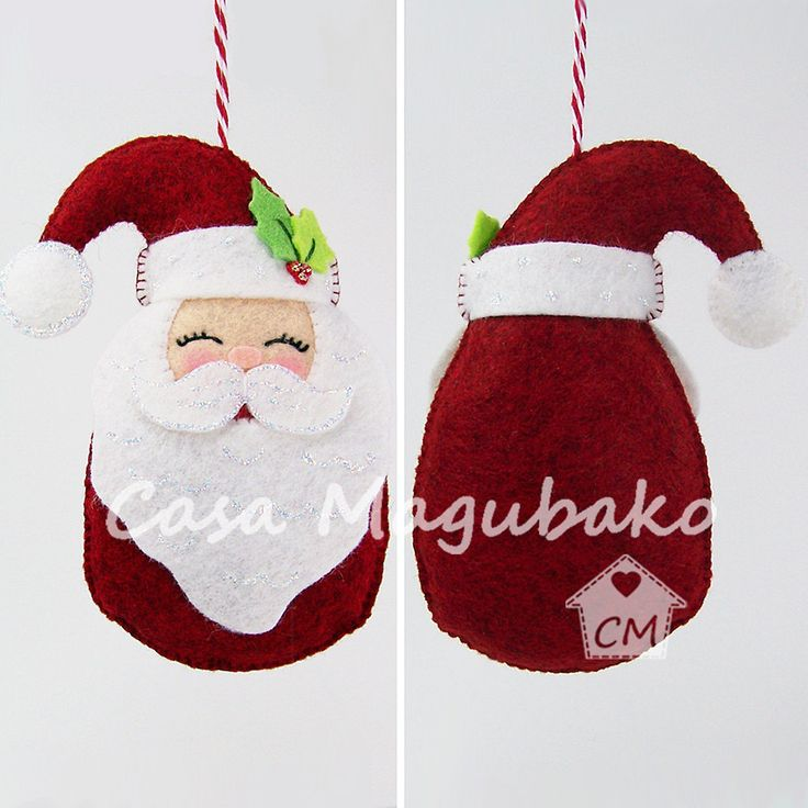 PDF Pattern  Santa Claus Ornament Felt Pattern  Christmas