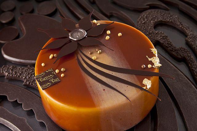 Chocolate Caramel Hazelnut Entremet by Qzina, via Flickr