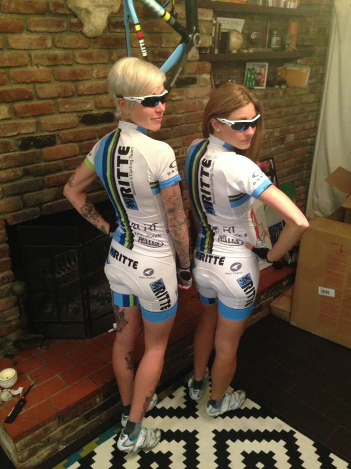 Ritte Women's Cycling Team - 2013 eye catching cycling team kit with lots of flair.