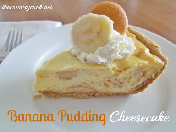 Banana Pudding CheesecakeChocolates Deserts, Desserts, Bananas Puddings Cheesecake, Food, Recipe To Try, Cheesecake Recipe, Country Cooking, Bananas Puddings Cake, Banana Pudding Cheesecake